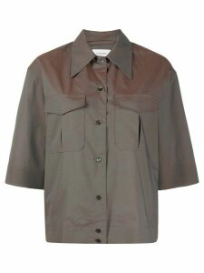 Lemaire oversized safari shirt - Brown