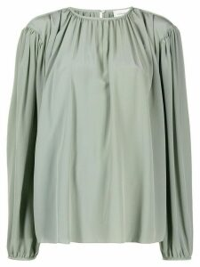 Lemaire pleated front blouse - Green