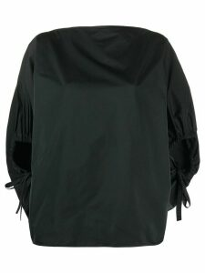 Nº21 balloon sleeve boxy blouse - Black