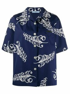 Prada leaf print shirt - Blue