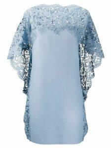 Valentino lace cape dress - Blue