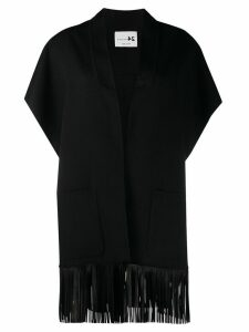 Manzoni 24 leather fringe jacket - Black