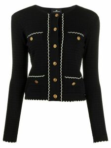 Elisabetta Franchi Chanel scalloped hem cardigan - Black
