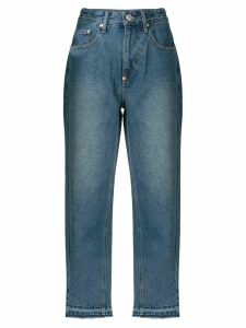 pushBUTTON straight washed jeans - Blue