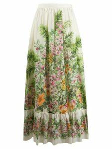 Twin-Set Jungle-print maxi skirt - NEUTRALS