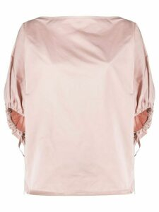 Nº21 balloon sleeve boxy blouse - PINK