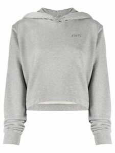 Kirin cropped metallic logo hoodie - Grey