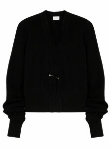 Magda Butrym oversized sleeve knitted cardigan - Black