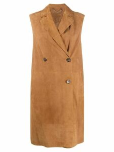 Desa 1972 double-breasted sleeveless coat - Brown