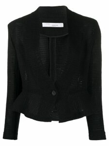 IRO crochet fitted peplum jacket - Black