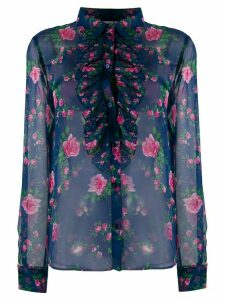Philosophy Di Lorenzo Serafini sheer rose-print shirt - Blue