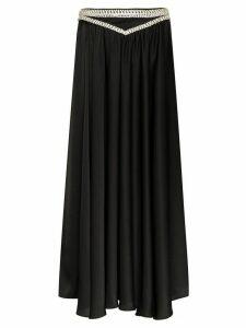 Paco Rabanne diamante-trim maxi skirt - Black