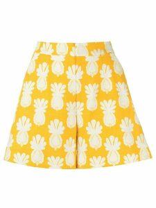 La Doublej pineapple print shorts - Yellow