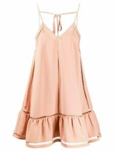 RedValentino cutout short dress - NEUTRALS