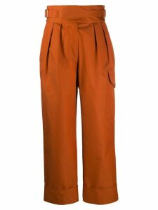 See by Chloé high waisted cropped trousers - Brown