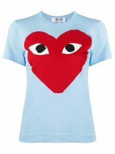 Comme Des Garçons Play heart-print crew neck T-shirt - Blue