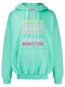 IRENEISGOOD Goodforyou embroidered cotton hoodie - Green