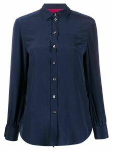 Paul Smith long-sleeved silk shirt - Blue