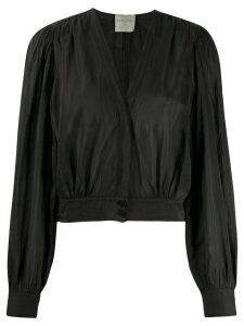 Forte Forte cropped wrap style blouse - Black