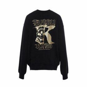 Evisu Iron-studded Reversible Sweatshirt