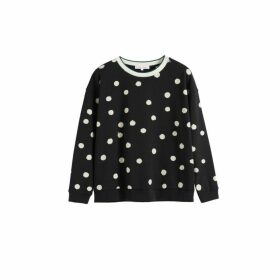 Chinti & Parker Black Painted Spot Cotton Sweatshirt