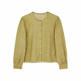 Hôtel Vetements Folies Printed Cotton Blouse