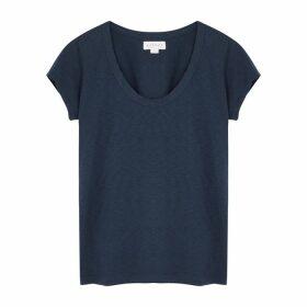 Velvet By Graham & Spencer Katie Dark Blue Cotton T-shirt