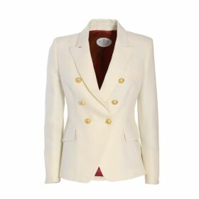 The Extreme Collection - Classic Bone White Crossed Blazer Chloe