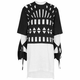 Loewe Black Cut-out Linen-blend Top