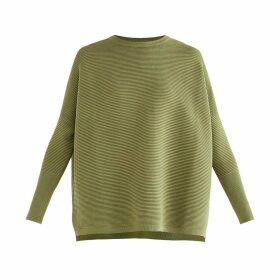 PAISIE - Paisie Ribbed Jumper In Olive Green
