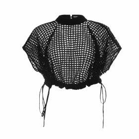 SZABO SIHAG - Gathered Adjustable Hem Cotton Top