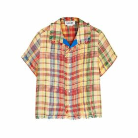 MONSE Checked Linen-blend Shirt