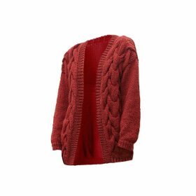 THE KNOTTY ONES - Twisted Erik Cardigan In Red