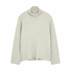 Totême Cannes Roll-neck Cotton-blend Jumper
