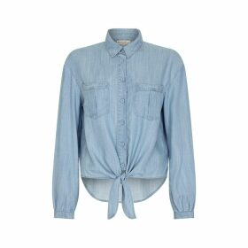 NOOKI DESIGN - Patti Tie Front Shirt- Tencel Denim
