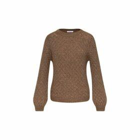 Gerard Darel Fancy Knit Sulivan Sweater In Alpaga And Merinos Wool