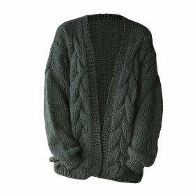 THE KNOTTY ONES - Twisted Erik Cardigan In Moss Green