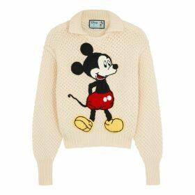 Gucci X Disney Mickey Mouse-intarsia Wool Jumper
