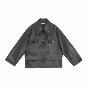 Neyuh Leather - The Recycled Plastic Shopper Bag - Black & White With Leather