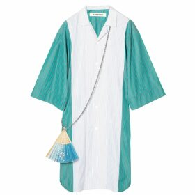 THEAVANT - Contrasting Wool & Paper Knitted Sweater In Blue