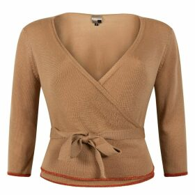 STUDIO MYR - Wrap Top Of Extra Fine Merino Sweety Honey Beige