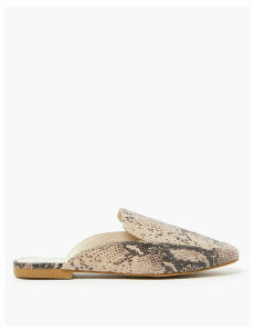 M&S Collection Almond Toe Mules