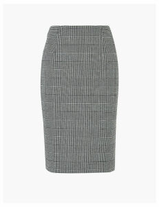 M&S Collection Jersey Checked Pencil Skirt