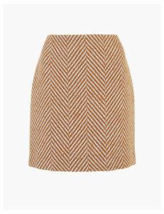 M&S Collection Herringbone A-Line Mini Skirt