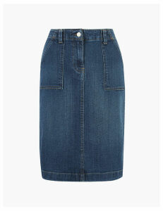 M&S Collection Denim Utility Midi Skirt