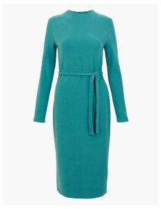M&S Collection Belted Midi Shift Dress