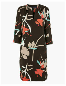 M&S Collection Crepe Floral Shift Dress