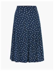 M&S Collection Cotton Polka Dot A-Line Skirt