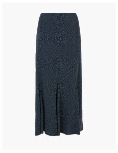 M&S Collection Polka Dot Midi Fit & Flare Skirt