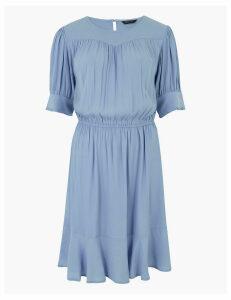 M&S Collection Yoke Detail Mini Waisted Dress